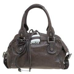 Chloe Olive Green Leather Large Double Zip Paddington Satchel