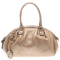 Gucci Beige Leather Medium Sukey Boston Bag