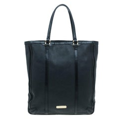 Burberry Black Perforated Leather Medium Tote