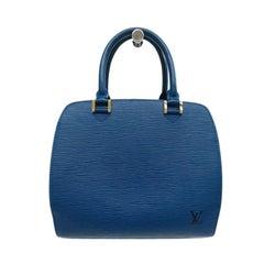 Louis Vuitton Blue Epi Leather Pont-Neuf PM Tote