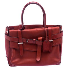 Reed Krakoff Red Leather Medium Boxer Tote