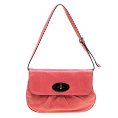Mulberry Pink Pleated Leather Joelle Pochette