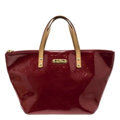 Louis Vuitton Red Monogram Vernis Bellevue PM Bag
