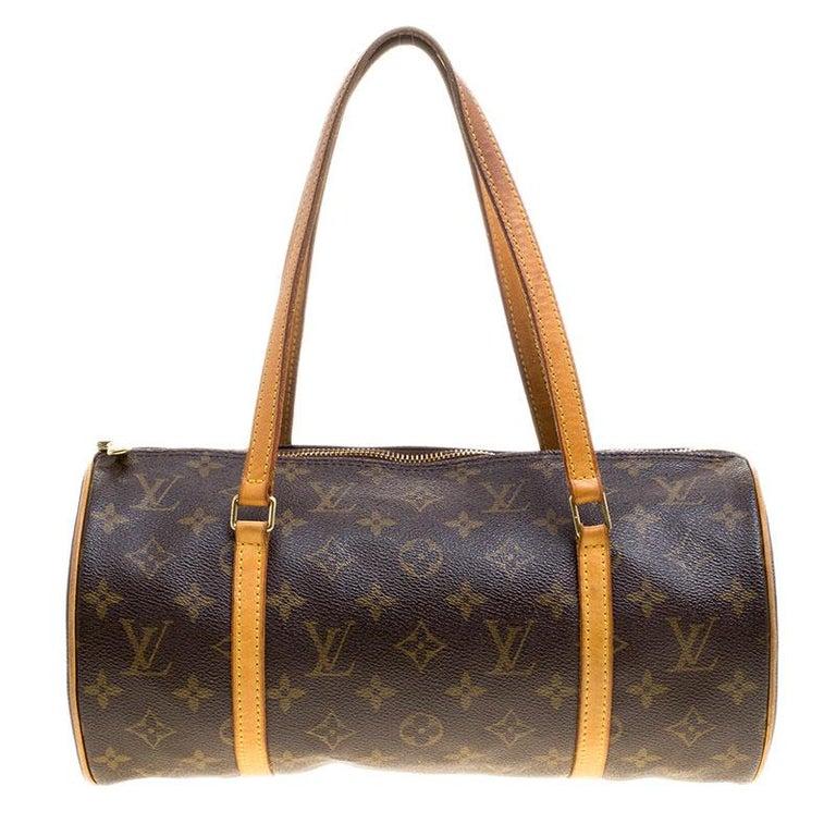 73a683ea4c3e Louis Vuitton Damier Ebene Canvas Papillon 30 Bag For Sale
