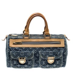 Louis Vuitton Blue Monogram Denim Neo Speedy Bag