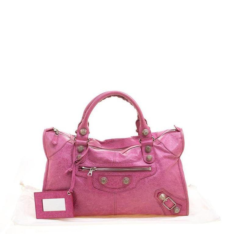 4b31ccf4a5 Balenciaga Framboise Leather GSH Work Tote at 1stdibs