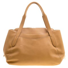Lancel Brown Leather Satchel