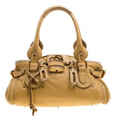 Chloe Yellow Leather Medium Paddington Satchel