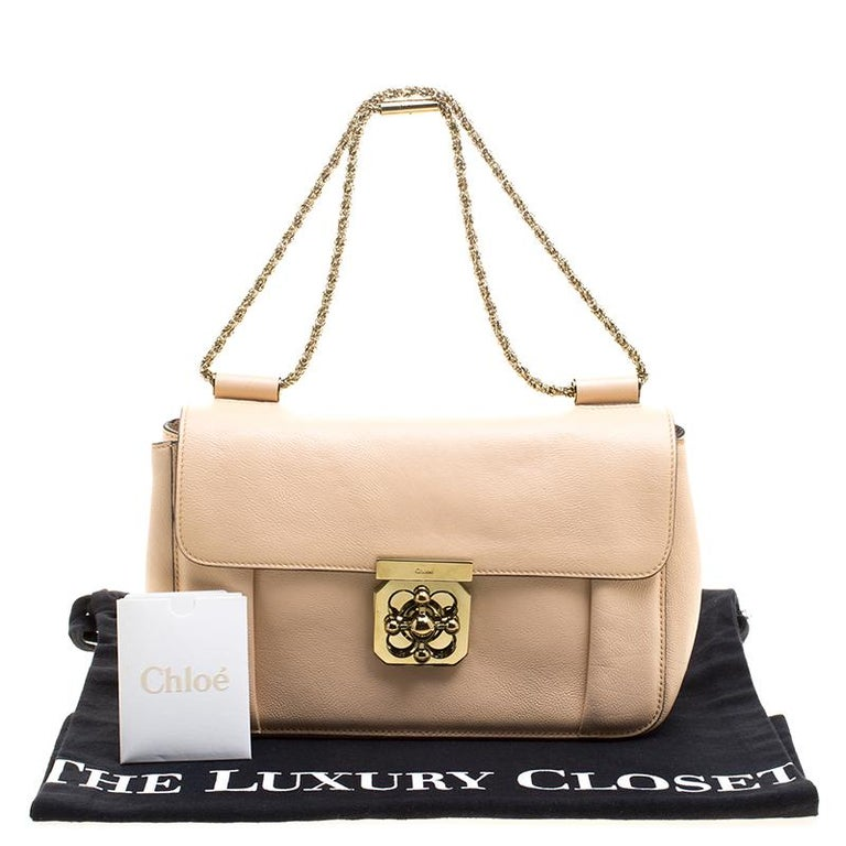 eabe4a18c0c Chloe Peach Leather Medium Elsie Shoulder Bag at 1stdibs
