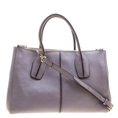 Tod's Lilac Leather D-Styling Shopper Tote
