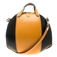Nicolas Theil Yellow/Black Leather Bee Bowling Bag