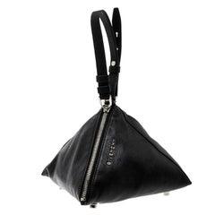 Givenchy Black Leather Small Triangle Pouch