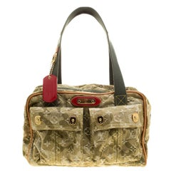 Louis Vuitton Light Olive Green Monogramouflage Denim Limited Edition Jasmine Sa