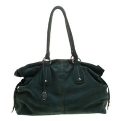 Tod's Green Suede Tote