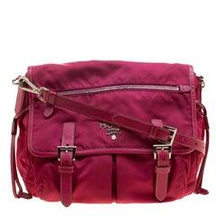 Prada Magenta Nylon Crossbody Bag