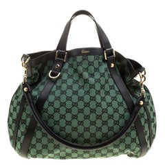 Gucci Green/Black GG Canvas Medium Abbey Shoulder Bag