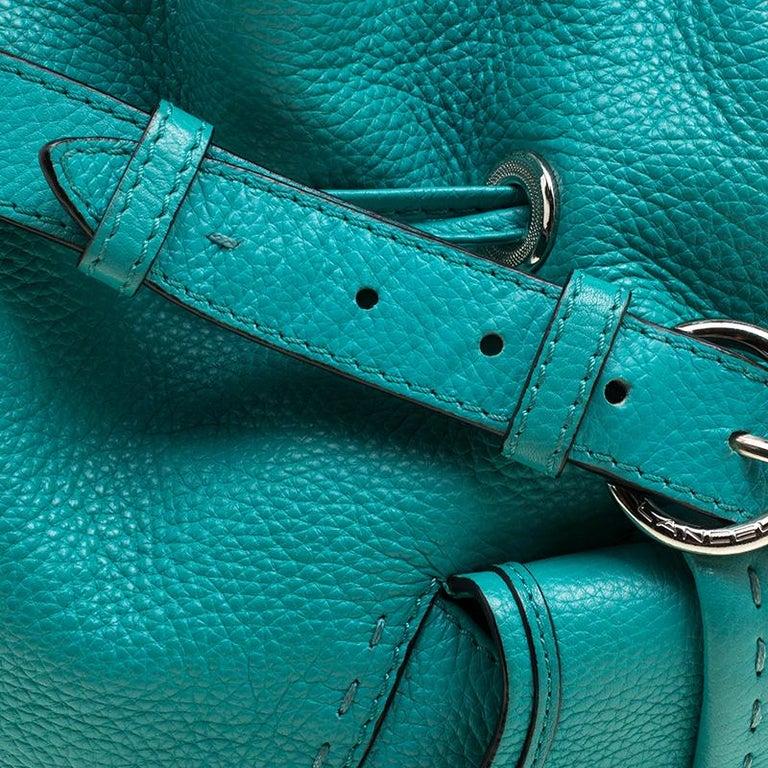 579749272844 Lancel Green Leather Premiere Flirt Bucket Shoulder Bag at 1stdibs
