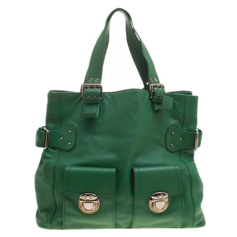 3835375fe989 Marc Jacobs Green Leather Stella Tote at 1stdibs