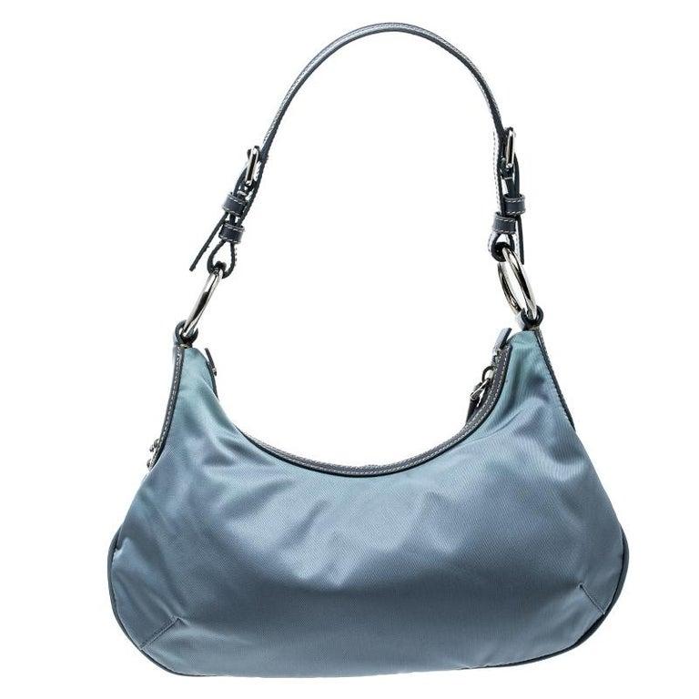 793696653b7 Prada Light Blue Nylon Shoulder Bag at 1stdibs