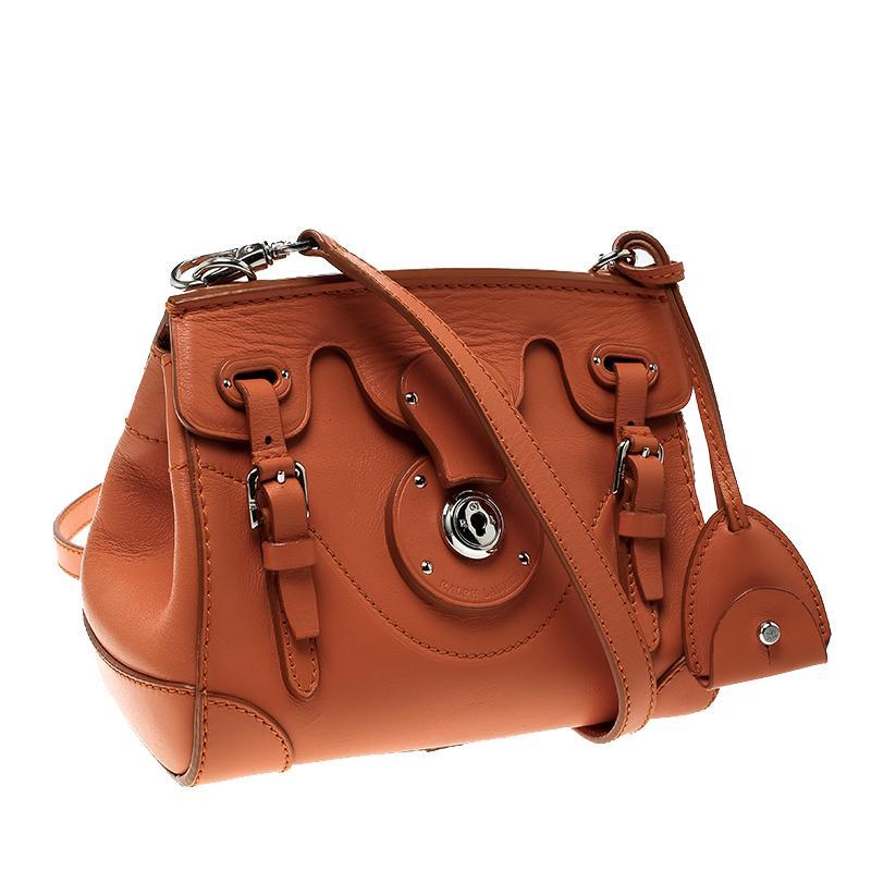 9512c666d0ee ... ireland ralph lauren orange leather ricky crossbody bag in new  condition for sale in dubai ae