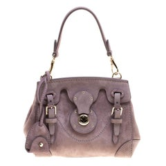 Ralph Lauren Lilac Suede Ricky Crossbody Bag