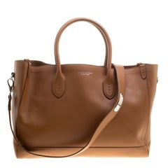 Ralph Lauren Brown Leather Classic Tote