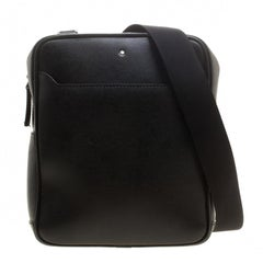 Montblanc Black Leather Small Sartorial Messenger Bag