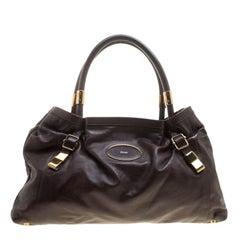 Chloe Brown Leather Victoria Tote