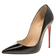Christian Louboutin Black Patent Leather So Kate Pumps Size 36