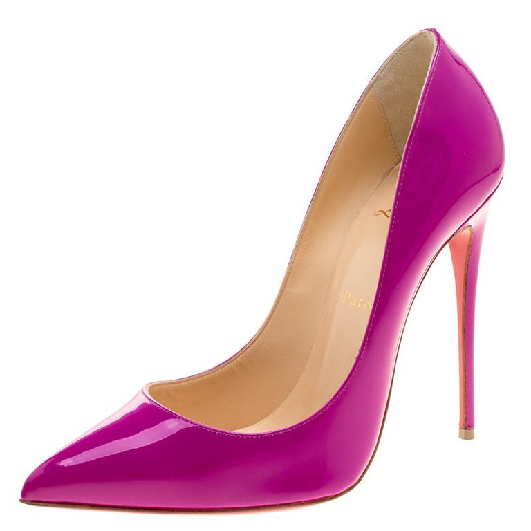 Christian Louboutin Magenta Patent Leather So Kate Pumps