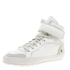 Isabel Marant White Leather Bessy High Top Sneakers Size 37