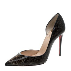 Christian Louboutin Two Tone Laser Cut Patent Leather Galupump Pointed Toe D'Ors