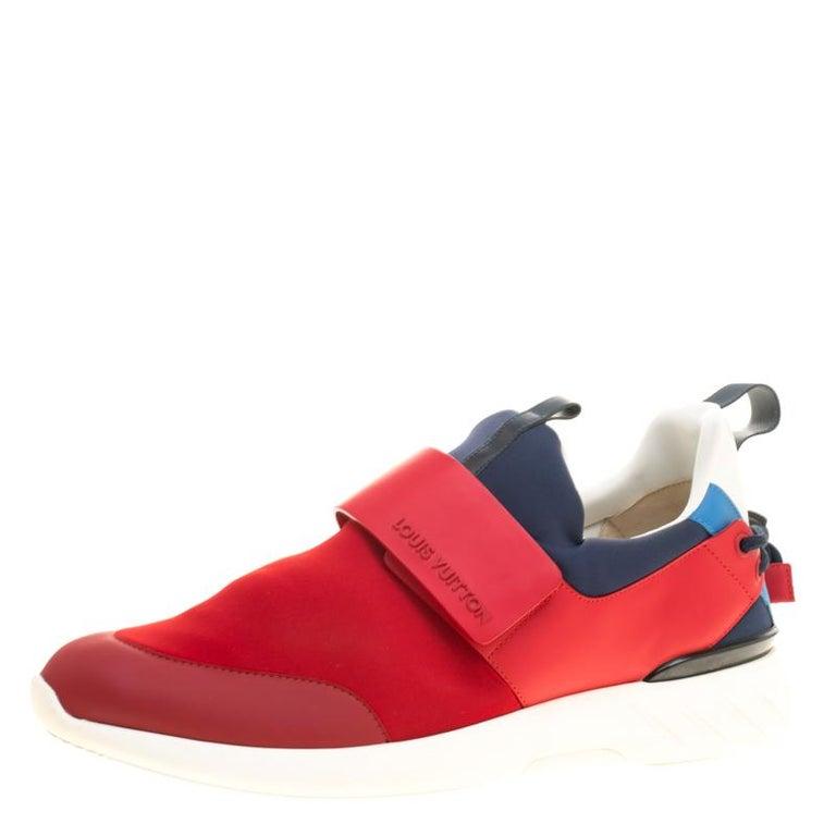low priced eb23e 60052 Louis Vuitton Tri Color Neoprene America s Cup Regatta Sneakers Size 43.5