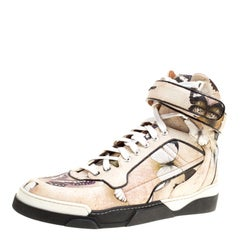 Givenchy Multicolor Butterfly Print Leather Tyson High Top Sneakers Size 40.5