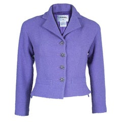 Chanel Lavender Tweed Jacket S