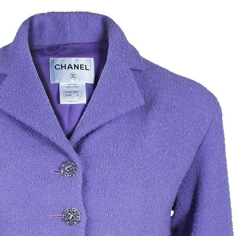 3357648f93ef Chanel Lavender Tweed Jacket S at 1stdibs