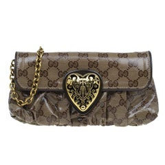 Gucci Beige GG Crystal Hysteria Evening Bag
