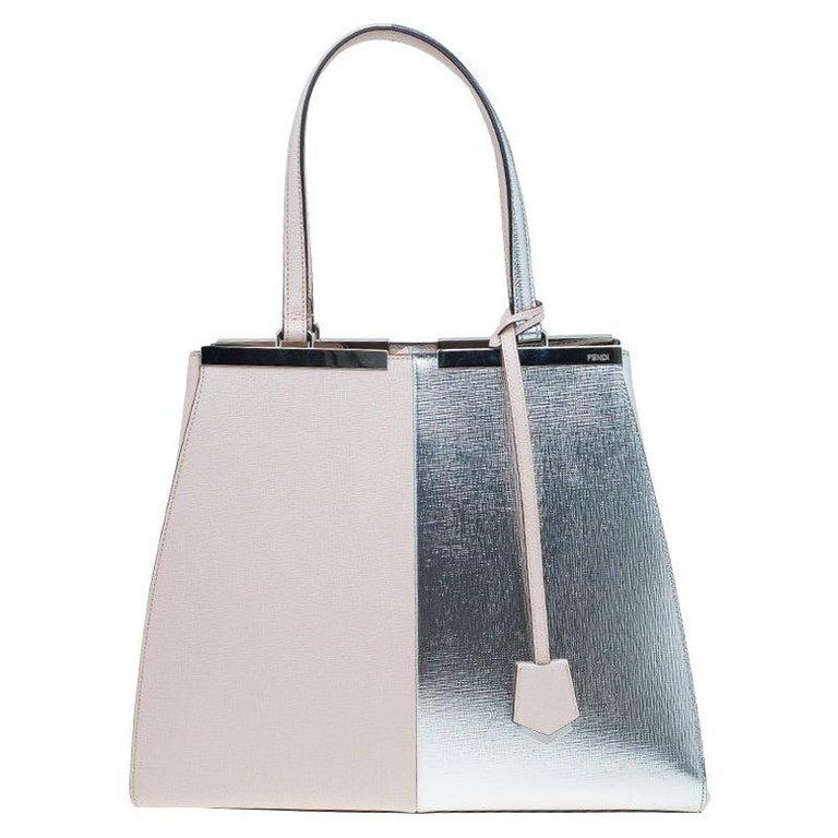 15774fa52929 Fendi Bi Color Leather Large 3Jours Tote Bag at 1stdibs