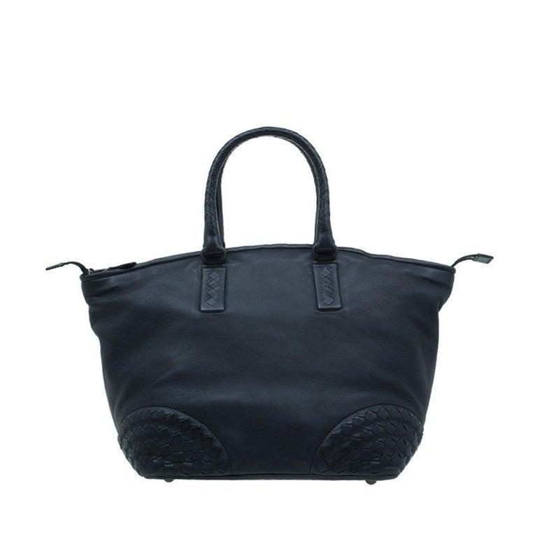 Bottega Veneta Black Nappa Intrecciato Leather Small Tote Bag at 1stdibs 52a53c5aa22f9