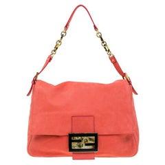 Fendi Orange Soft Leather Mama Forever Shoulder Bag