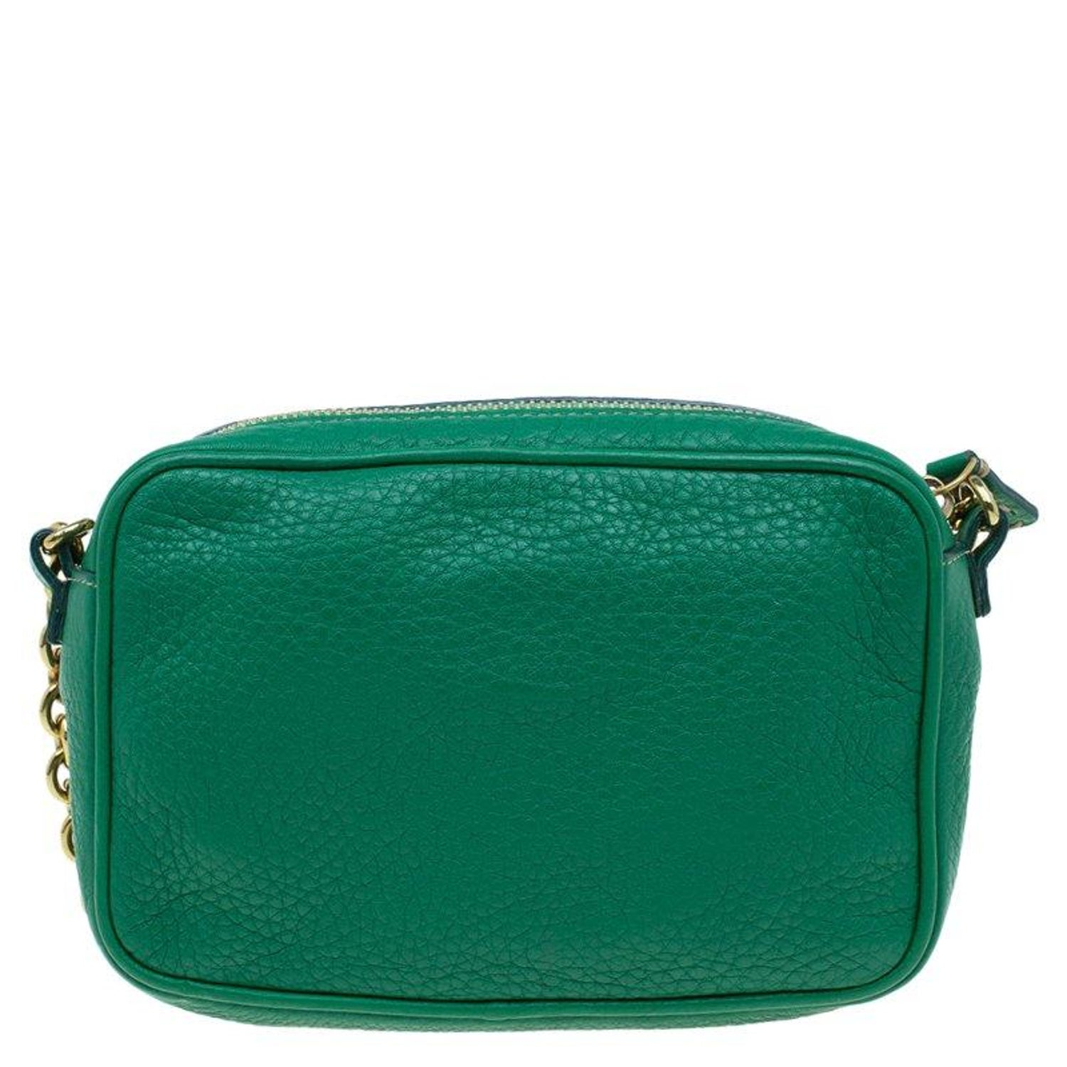 df64be0addd0 Fendi Green Leather Selleria Leather Small Crossbody Bag at 1stdibs