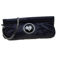Gucci Black Satin Pop Night Wristlet Clutch