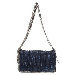 Stella McCartney Metallic Blue Faux Leather Falabella Crossbody Bag