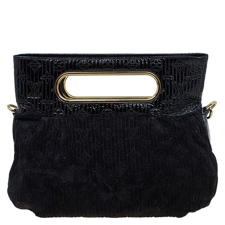 7ec84fa0cc26 Louis Vuitton Black Monogram Suede Limited Edition Motard Afterdark Bag at  1stdibs
