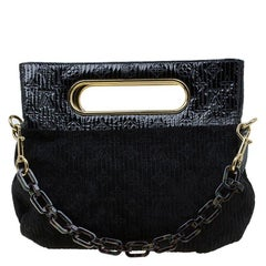 Louis Vuitton Black Monogram Suede Limited Edition Motard Afterdark Bag