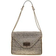 Chloe Metallic Tweed Medium Sally Flap Shoulder Bag