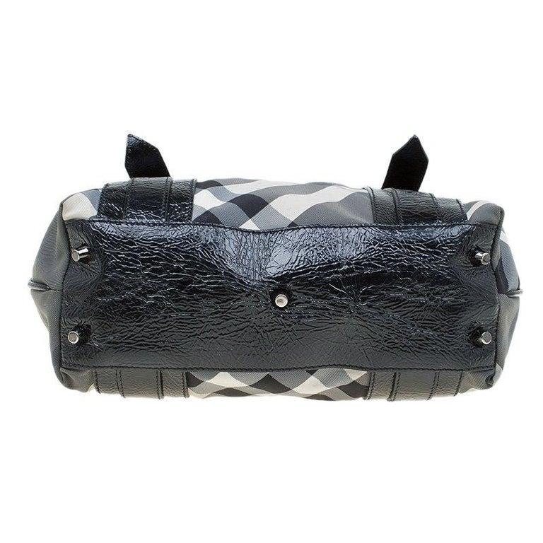 2c7491d3e1dcd Burberry Black Beat Check Nylon Lowry Tote For Sale 1