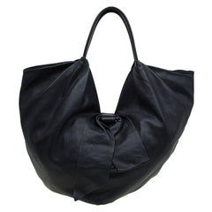 Valentino Black Nappa Leather Folie Bow Hobo