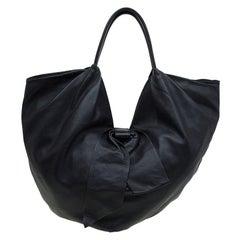 Valentino Black Nappa Leather Folie Bow Hobo