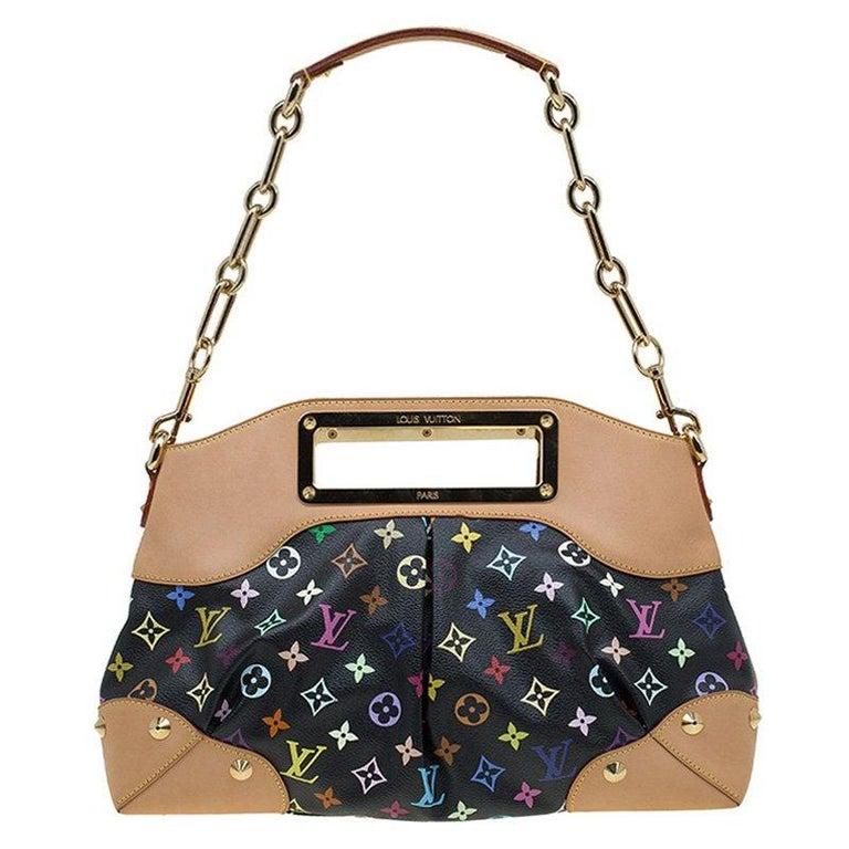 00a9eae40eb0 Louis Vuitton Black Multicolor Monogram Canvas Judy MM Bag For Sale ...